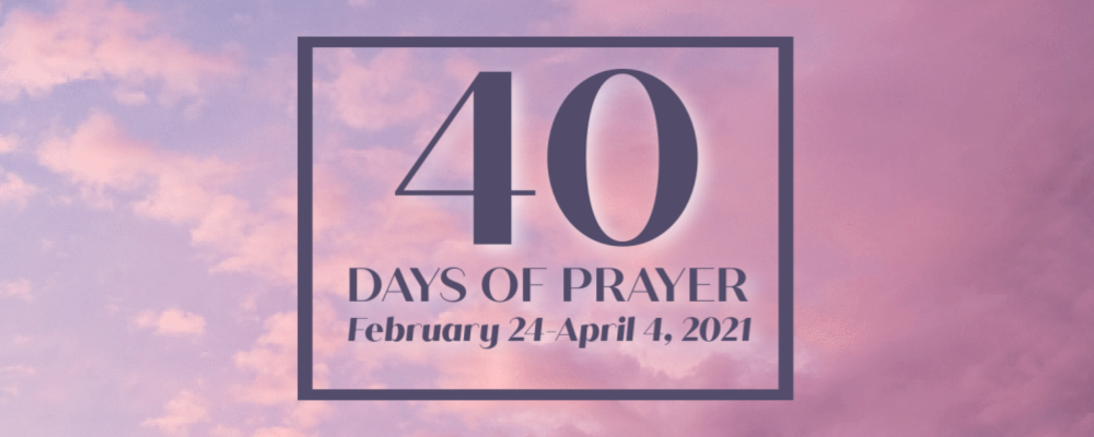 40 Days Of Prayer 2021 1000 X 400